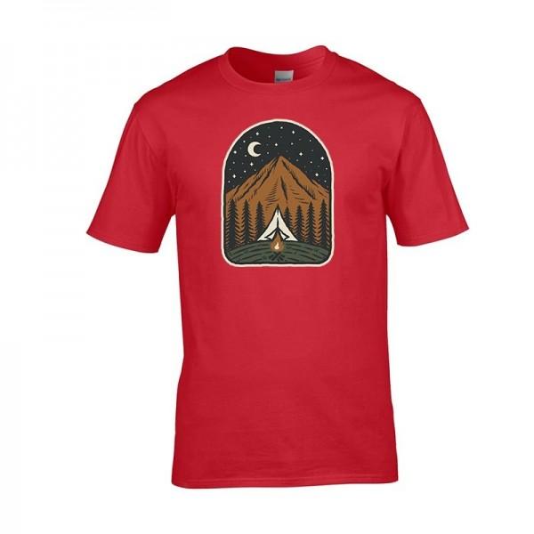 Tričko s turistickým vzorom